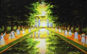 Sungai dan orang-orang Kudus di Sorga