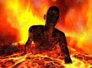 Terbakar oleh lautan api Neraka