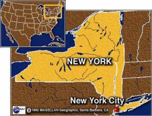 Peta New York Amerika