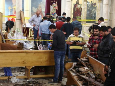 Jemaat Gereja St. George di Tanta Mesir dibom Muslim saat ibadah