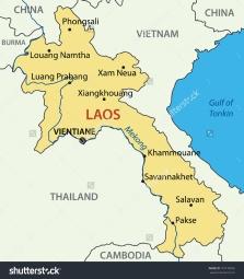Peta Laos dan negara tetangganya