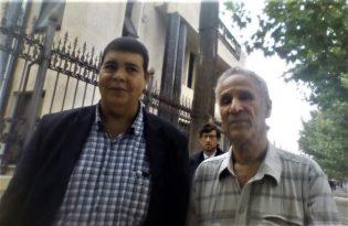 Rachid Ouali Ali Larchi, dari kiri ke kanan, Sadek Najib Pembela Hukum mereka